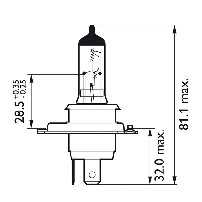 516214 - headlamp bulb h4 vision moto