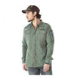566427 - Von Dutch Army shirt kaki - www.motorcyclestorehouse.com dfb1bde7c