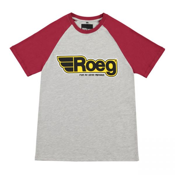 ROEG Burk men's t-shirt grey/red