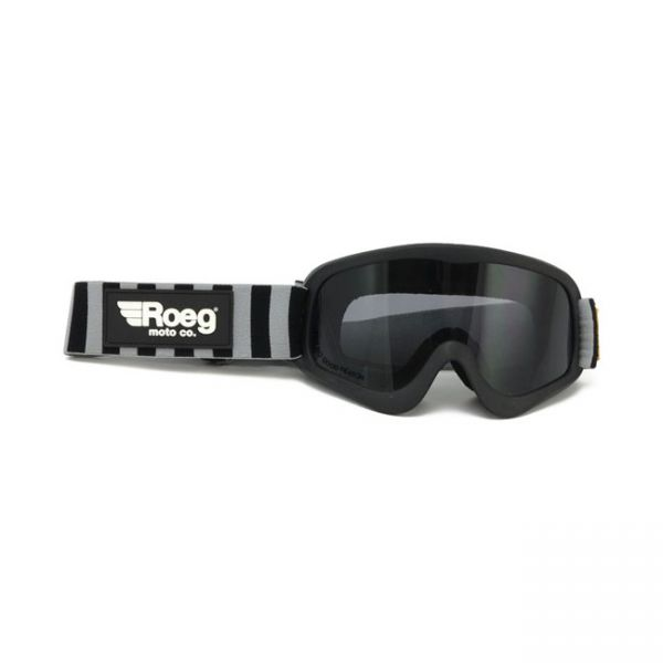 Roeg Striped Peruna goggle black/fog strap