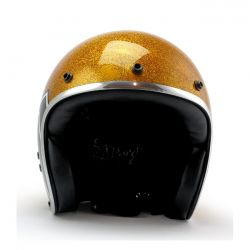 Roeg X 13 1/2 Skull bucket helmet gold metal flake