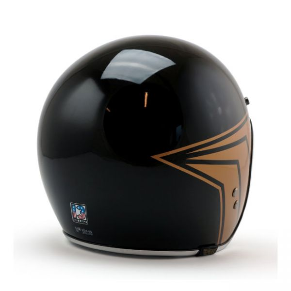 Roeg X 13 1/2 Skull bucket helmet gloss black