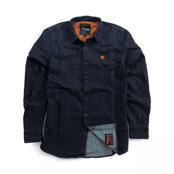 Roeg Bear premium denim shirt blue