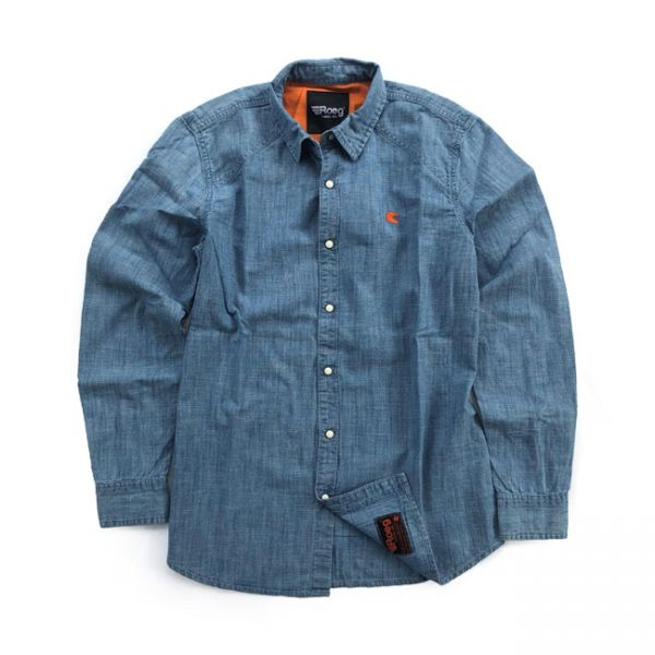 Roeg Bear premium denim shirt light blue